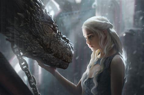 daenerys targaryen  dragon artwork hd tv shows