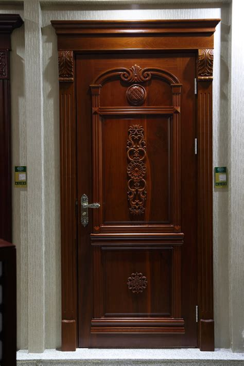 carving sapele solid wood south indian main front door