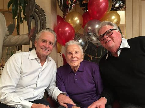 kirk jay parents kirk douglas celebrates 101st birthday surrounded by