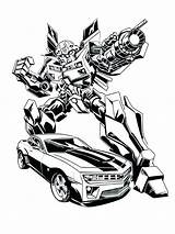 Bumblebee Coloring Transformer Pages Transformers Bee Bumble Printable Print Getcolorings sketch template