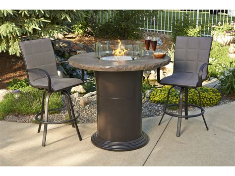 patio table with pit outdoor greatroom colonial fberglass 48 pit pub