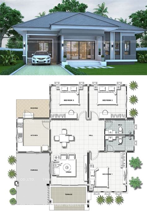 gray bungalow   bedrooms pinoy eplans house plan gallery modern bungalow