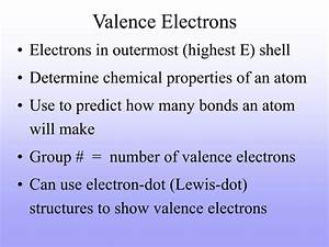 Ppt - Valence Electrons Powerpoint Presentation