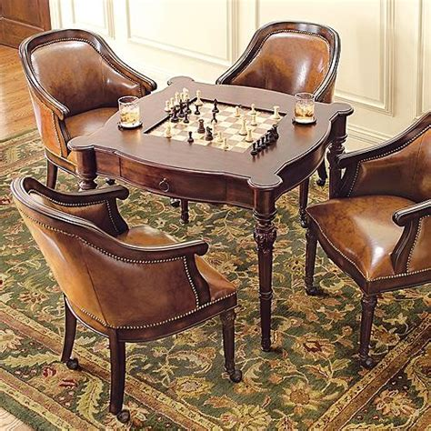 freeman table and four leather chairs traditional
