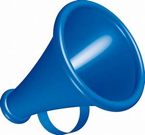 blue megaphone horn free vector | Free PSD,Vector,Icons