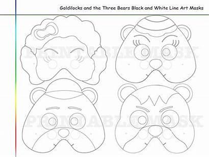 Goldilocks Bears Coloring Three Pages Mask Bear