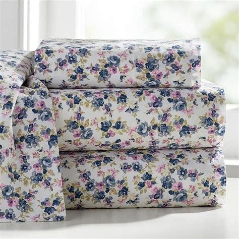 floral twin sheets pb teen rose sheet set xl twin blue multi 59 liked on