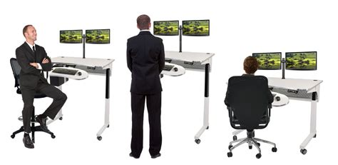 sit stand office desk standing desks sit to stand workstation table