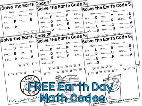 earth day activities for kindergarten grade