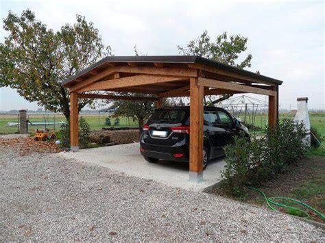 tettoie auto in legno tettoia in legno a 2 falde amalegno