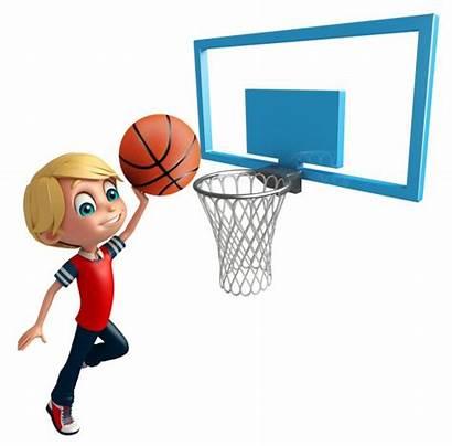 Cartoon Basketball Ball Boy Basket Kid Shoot