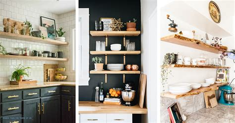 Kitchen Open Shelves Images by 18 Best Open Kitchen Shelf Ideas And Designs For 2019