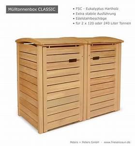 Mülltonnenbox Holz Anthrazit : 2er 3er m lltonnenbox hartholz 120 240 liter natur ~ Whattoseeinmadrid.com Haus und Dekorationen