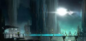 Cityscapes futuristic fantasy art science fiction artwork ...