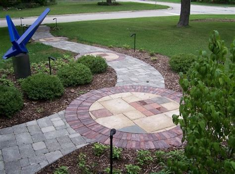 sidewalk paver designs paver walkway wheaton il photo gallery landscaping network
