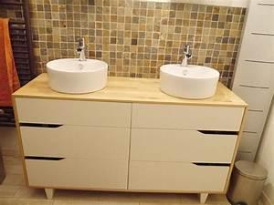 Commode Salle De Bain Ikea : meuble salle de bain double vasque id e salle de bain pinterest salle de bain meuble ~ Teatrodelosmanantiales.com Idées de Décoration