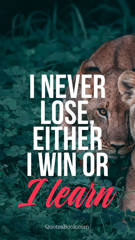 lose   win   learn quotesbook