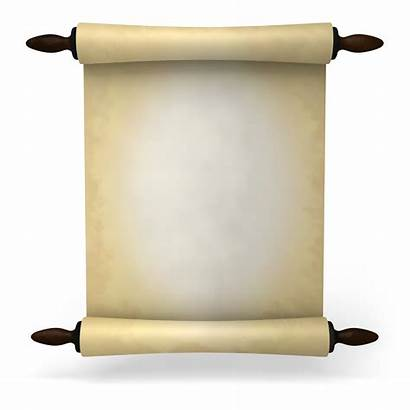 Roll Letter Ancient Paper Clipart Scroll Transparent