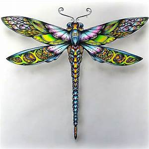 Colorful Dragonfly Tattoo Design
