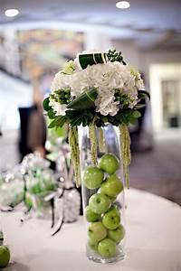 Elegant ivory, green and black wedding reception ...