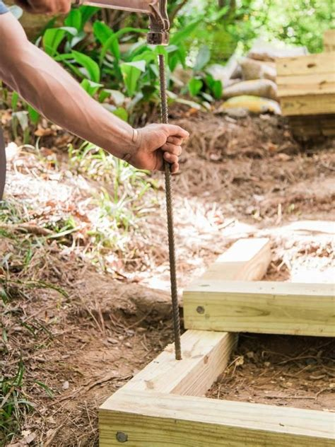 How To Build A Backyard Garden by How To Build Outdoor Wood Steps In 2019 Diy Landscaping