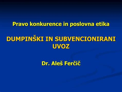 PPT - Pravo konkurence in poslovna etika PowerPoint Presentation, free download - ID:4597075