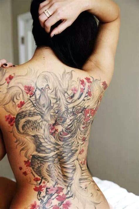 Tatouage Japonais Ecriture De Tatouage Phoenix Tout Le Dos