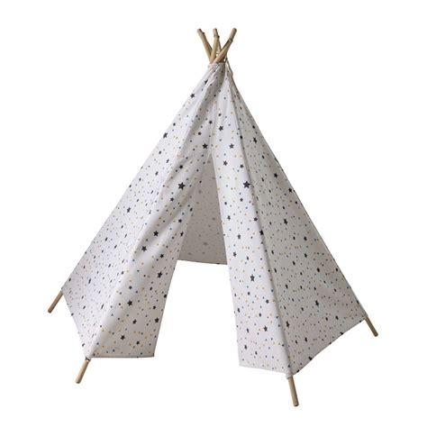 Tipi Pour Enfant Tipi Enfant Motifs Triangles Et 233 Toiles H 145 Cm Graphikids Maisons Du Monde