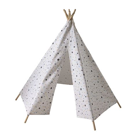bureaux pour enfants tipi enfant motifs triangles et étoiles h 145 cm
