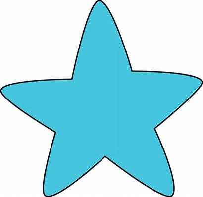 Star Clipart Clip Rounded Graphics Teal Cartoon