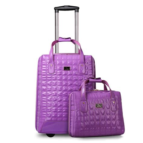 New Women Travel Suitcase PU Leather Travel Bags&Girls ...