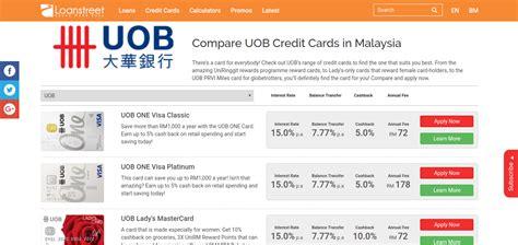 compare uob credit cards  malaysia