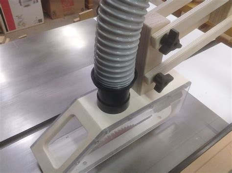 shop built table  overarm dust collection hood woodworking talk woodworkers forum