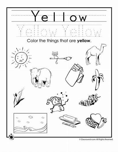Worksheets Preschool Yellow Kindergarten Printable Worksheeto Via