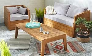 Salon Exterieur En Bois : meuble exterieur bois good armoire basse en bois h cm ~ Premium-room.com Idées de Décoration