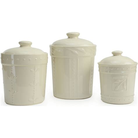 kitchen ceramic canisters signature housewares sorrento kitchen canisters 3 sets everything kitchens