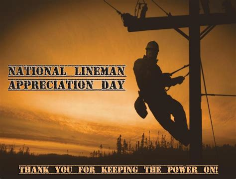 national lineman appreciation day  printable