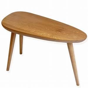 Table Basse Bois : table basse de cr ateur 3 pieds en bois massif essentia mobilia ~ Teatrodelosmanantiales.com Idées de Décoration