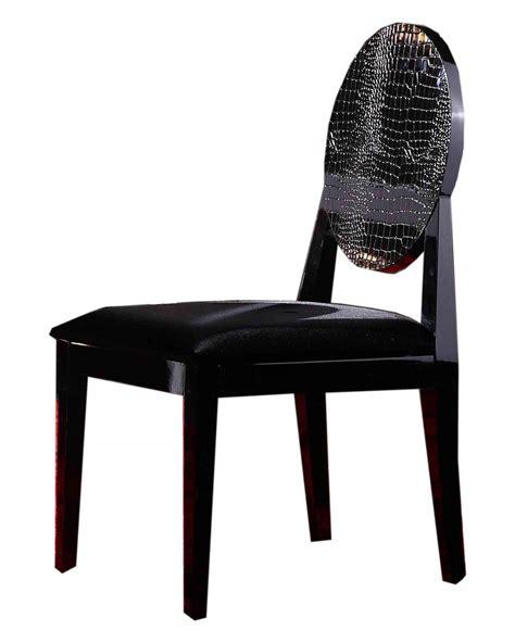 aa018 modern white black lacquer chair