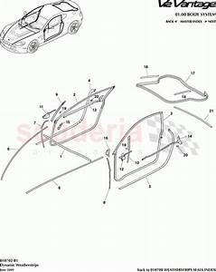 Aston Martin V12 Vantage Dynamic Weatherstrips Parts