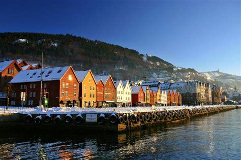 bukti pemandangan  bergen norwegia menakjubkan