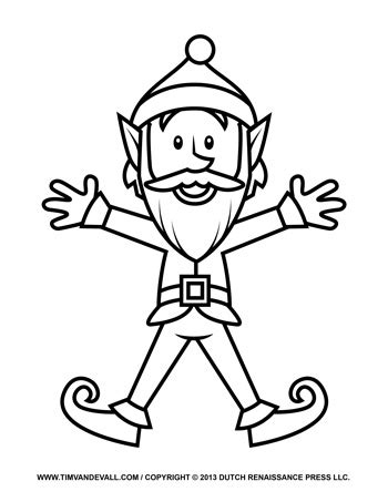 elf template tims printables