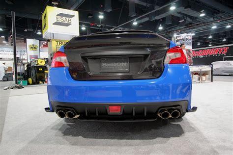 style carbon fiber trunk lid    subaru wrx sti
