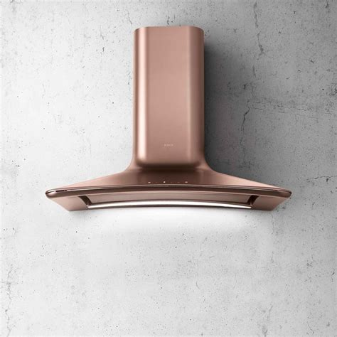 Angled Ceiling by Elica Dolce Copper Cooker Hood Appliance Source