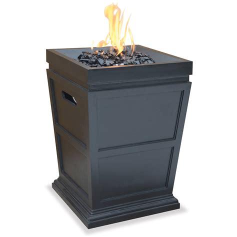 uniflame lp gas ceramic tile pit table pit