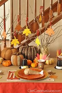 Easy, Diy, Kids, Thanksgiving, Table, Ideas
