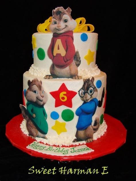 alvin and the chipmunks cake decorations chipmunks cake all edible by sweet harman e chipmunks