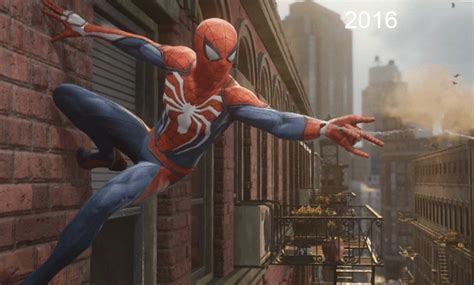Spider-man Ps4 2016 Vs. 2018 Comparison Shows How The Game