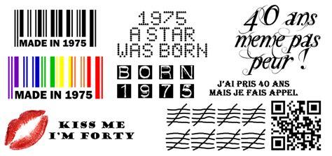 Tatouage éphémère Temporaire Sticker Decalcomanie 40 Ans