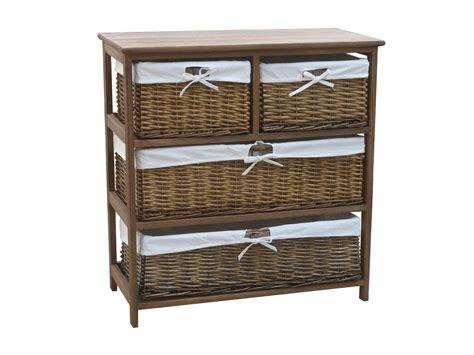 storage cabinets with wicker baskets charles bentley wooden wicker drawer storage cabinet